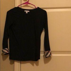 A black Burberry shirt!